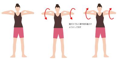 肩甲骨を回す体操