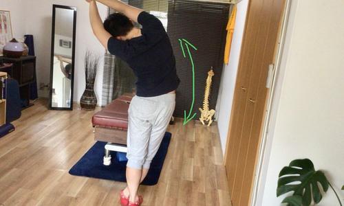 腰方形筋のストレッチ
