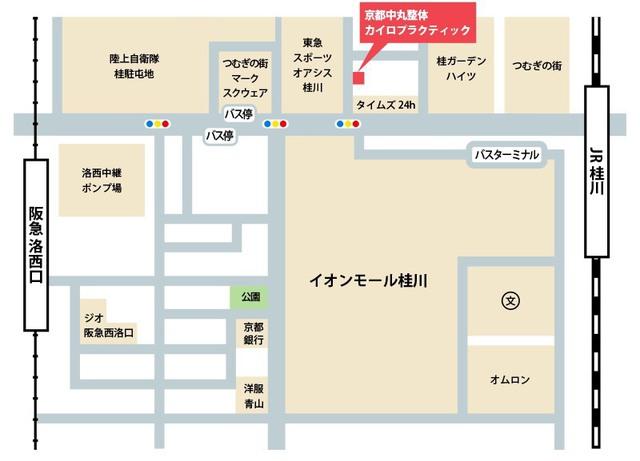 桂川の整体院の地図